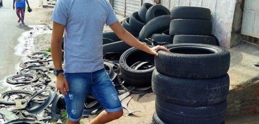 Il fabrique des lits pour animaux à partir de vieux pneus